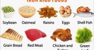 اغذية تحتوي على الحديد
