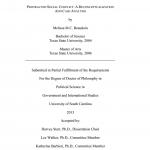 مذكرات تخرج علوم سياسية pdf