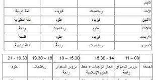 صورة اريد جدول تنظيم الوقت للدراسة
