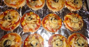 صور طريقة عمل ميني بيتزا