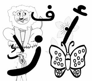 صور رسم الحروف العربية