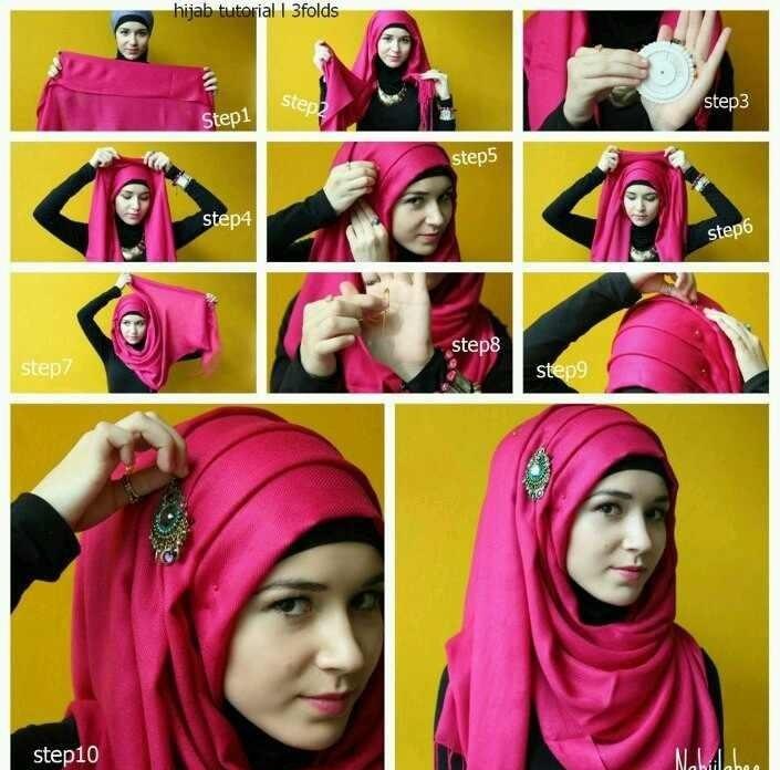 صورة صور مفصلة لكيفية وضع الحجاب