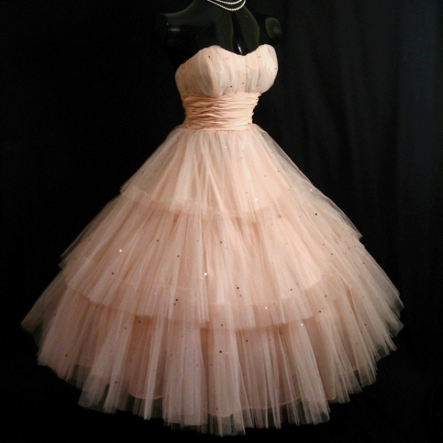Pink puffy dress engagement party dress!
