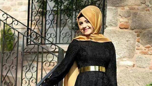 صور صور لفة طرح سوارية للفستان اسود
