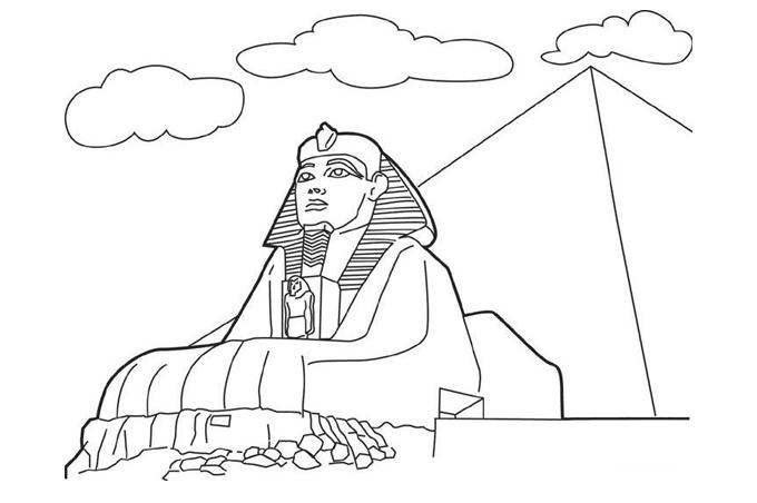 صور رسم ابو الهول