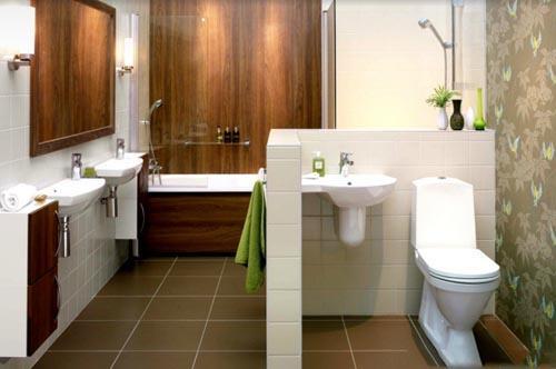 افكار و تصميمات ديكورات حمامات صغار المساحة بالصور