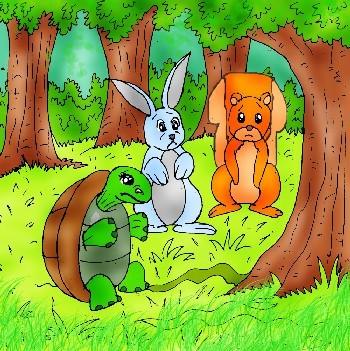 صورة الارنب في الغابة