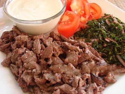 صور طريقة عمل شاورما اللحمه