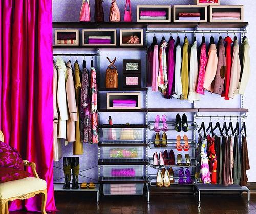 تقسيمات جميلة لخزانات الملابس
