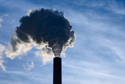 تلوث الهواء كرتون