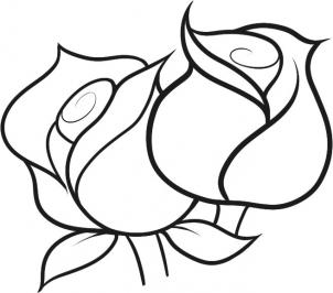 صورة صور لرسم الورود