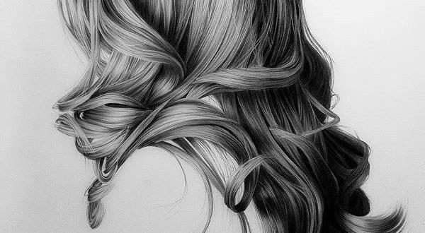 صور كيف ترسم الشعر بالرصاص