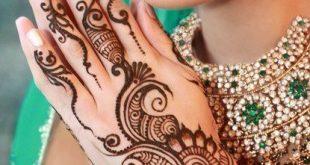 صورة نقش حناء هندي روعه