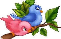 صوره عصفوران صغيران على غصن شجرة