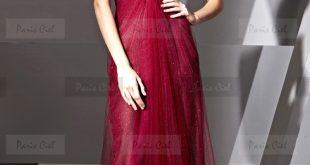 صور فستان سهرة عنابي ابداع لامحدود للمراة