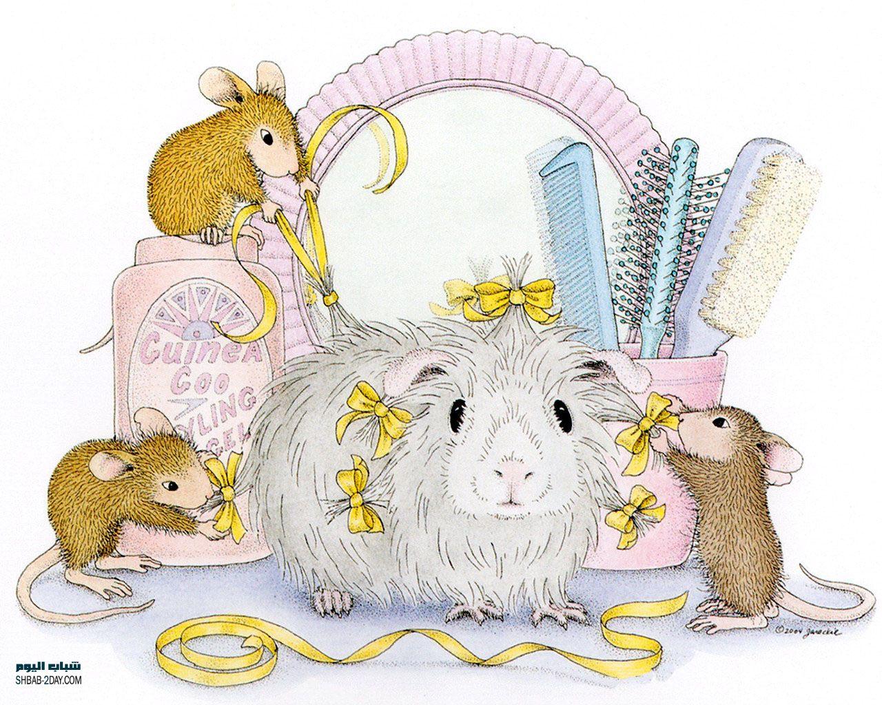صورة صور فئران جميلة في منزل كرتوني