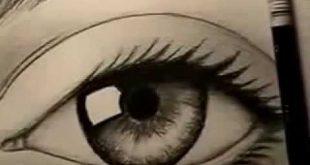 صورة طريقة رسم العين بالقلم الرصاص