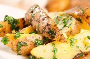 صور بطاطس بدون تحمير بالثوم والعشاب,افضل طريقه بطاطس