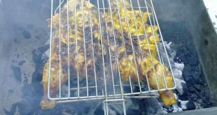 صور طريقة عمل الدجاج بالفحم