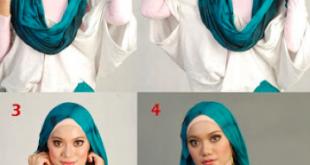 طريقة وضع الحجاب , ابسط طريقه لوضع الحجاب