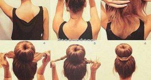 صورة تسريحات شعر بسيطة , تسريحة سهلة للشعر