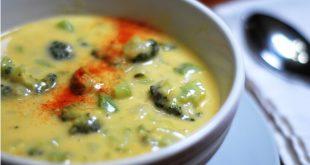 طريقة عمل شوربة البروكلى والجبنة الشيدر , من  اشهى الشوربات