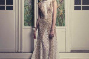 صورة فساتين دانتيل فرنسي , من احلى الفساتين الفرنسية