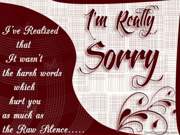 صور كلمات اعتذار مصوره