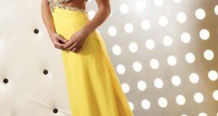 صور فساتين باللون الاصفر , اجمل ملابس صفراء 2017