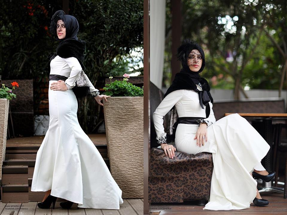 صور احلى ملابس حجاب اجمل فساتين المحجبات
