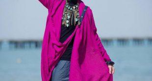 صور ازياء محجبات مناسبة للبحر , ملابس للمصيف للمحجبات 2017