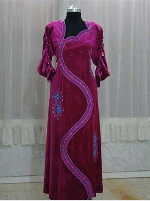 بالصور فساتين جزائرية شتوية للبيت , لباس بنات الجزائر للشتاء 244516