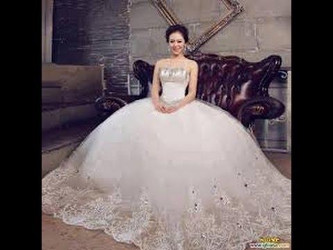 صور احدث فساتين الزفاف , فساتين ليله العمر 2019