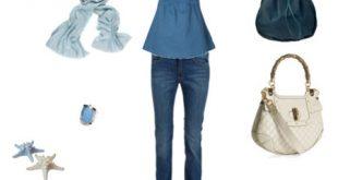 صورة ملابس شيك للبنوتات , احلى ازياء باللون الازرق 2019