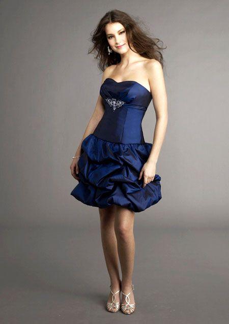 صورة فستان قصير منفوش فستان فرح منفوش