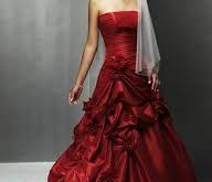 صورة فساتين زفاف حمراء