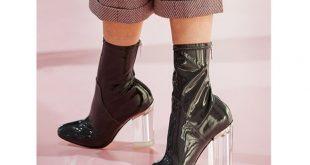 صور موديلات احذية باللون الاسود , احذية جديدة 2017