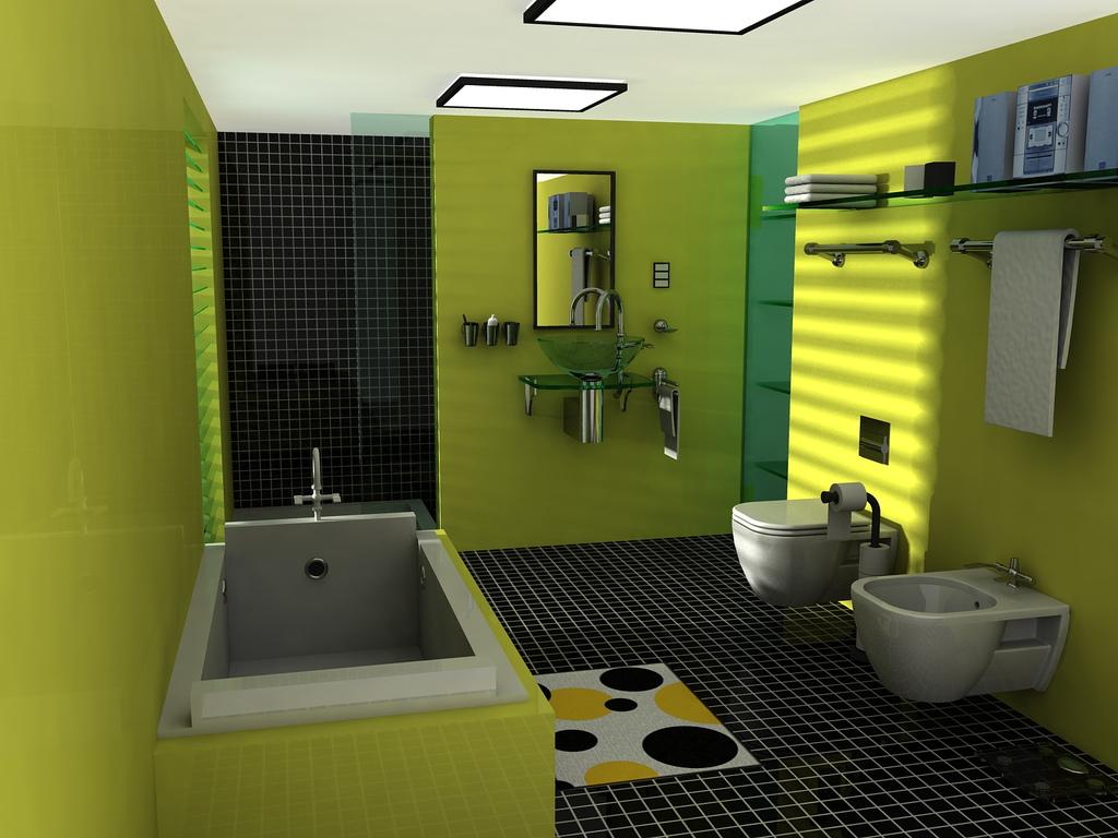 صورة حمامات بالوان جديدة