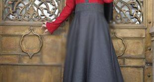 صورة فساتين للمحجبات للخروج تركية فخمة 2019 روعة انيقه ، الحشمة و الجمال فى زى واحد