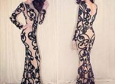 صورة فساتين المصمم جسميكو كم طويل ، الحشمة ليها نصبها من الموضة
